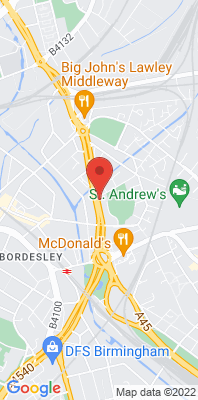 Map showing the location of the Birmingham A4540 Roadside monitoring site