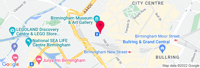 Map for Birmingham Town Hall