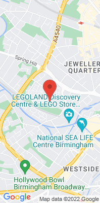 Map showing the location of the Birmingham Ladywood monitoring site