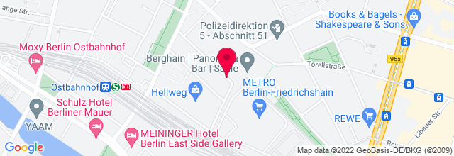 Map for Berghain Kantine