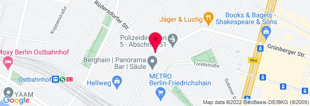 Map for Panorama Bar