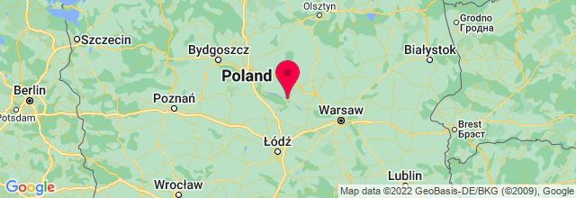 Map of Plock, Poland