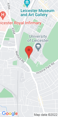 Map showing the location of the Leicester University monitoring site