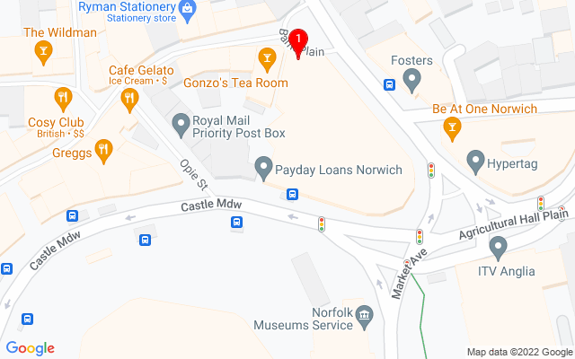 Google Map of OPEN Norwich