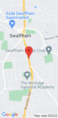 Map showing the location of the Breckland Swaffham monitoring site