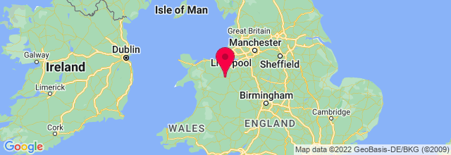 Map of Llangollen, UK