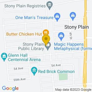 Map to Moonshiners ( Stony Plain ) provided by Google