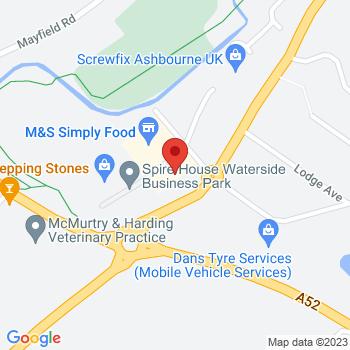 Homebase Ashbourne Location on map