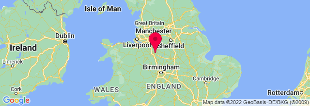 Map of Stoke, UK