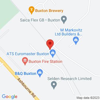 B&Q Supercentre Buxton Location on map