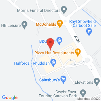 B&Q Mini Warehouse Rhyl Location on map