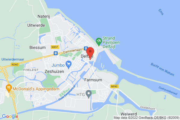 Delfzijl is located in the north of the Netherlands