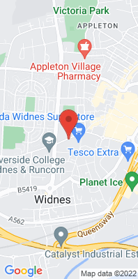 Map showing the location of the Widnes Milton Road monitoring site