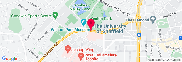 Map for The Foundry, Sheffield University