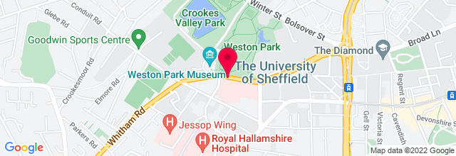 Map for Foundry, Sheffield University