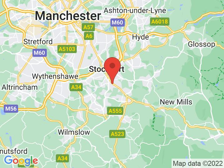 Stockport Grammar location Google Static Map
