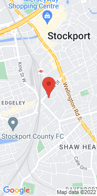Map showing the location of the Stockport Shaw Heath 2 [Closed] monitoring site