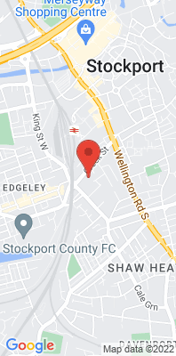 Map showing the location of the Stockport Shaw Heath [Closed] monitoring site