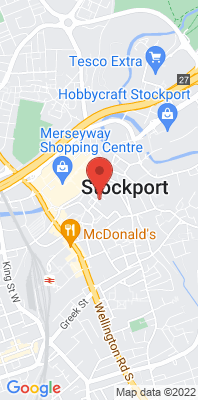 Map showing the location of the Stockport [Closed] monitoring site
