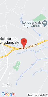 Map showing the location of the Tameside Mottram Moor monitoring site