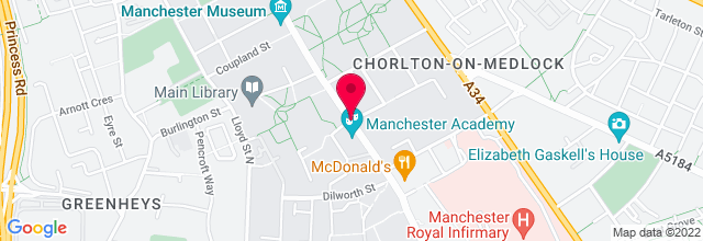 Map for Manchester Academy 3