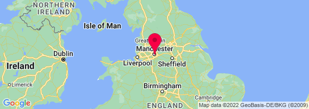 Map of Manchester, UK