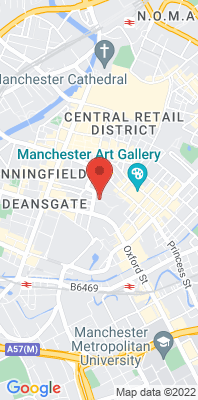 Map showing the location of the Manchester Town Hall [Closed] monitoring site