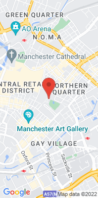 Map showing the location of the Manchester Piccadilly monitoring site