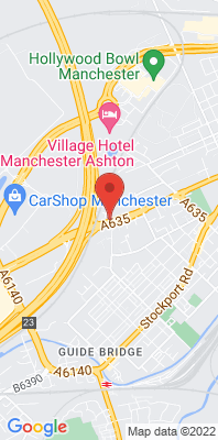 Map showing the location of the Tameside A635 Manchester Road monitoring site