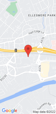 Map showing the location of the Salford Eccles monitoring site