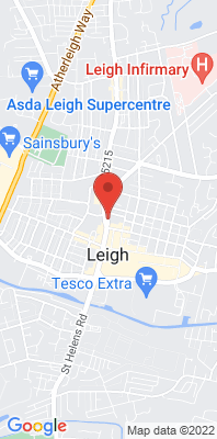 Map showing the location of the Wigan Leigh 3 monitoring site