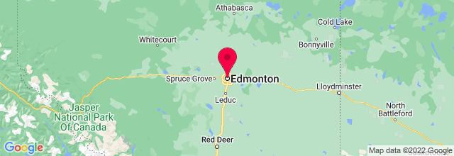 Map of Edmonton, AB, Canada