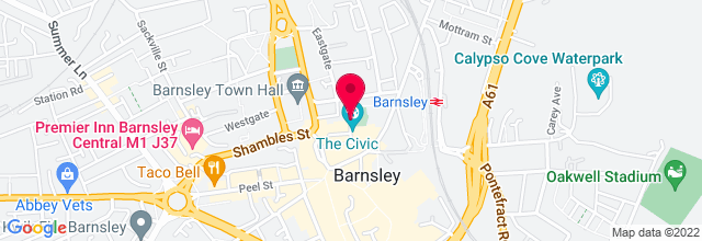 Map for Barnsley Civic