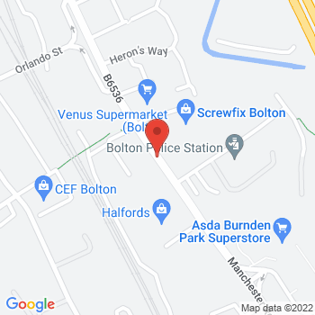 Halfords Bolton Location on map