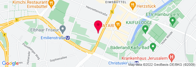 Map for Hamburg-haus Eimsbüttel