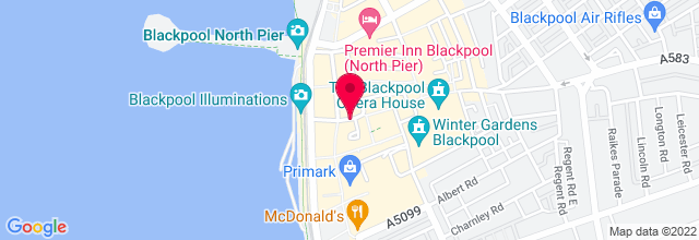 Map for Blackpool Winter Gardens