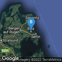 Lagekarte von Binz (Ostseebad)