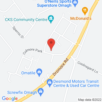 Halfords Omagh Location on map