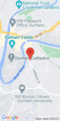 Map showing the location of the Durham New Elvet [Closed] monitoring site