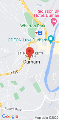 Map showing the location of the Durham Crossgate [Closed] monitoring site