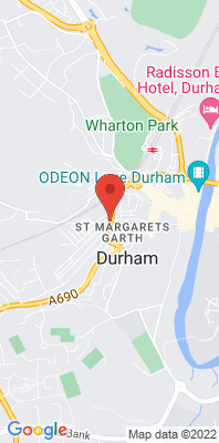 Map showing the location of the Durham Hawthorn Terrace [Closed] monitoring site