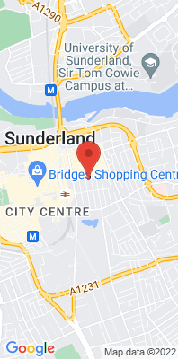 Map showing the location of the Sunderland [Closed] monitoring site