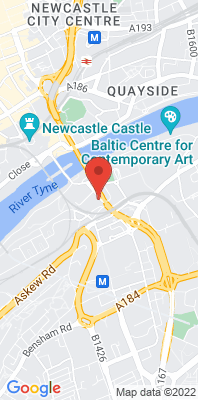 Map showing the location of the Gateshead Bottle Bank monitoring site