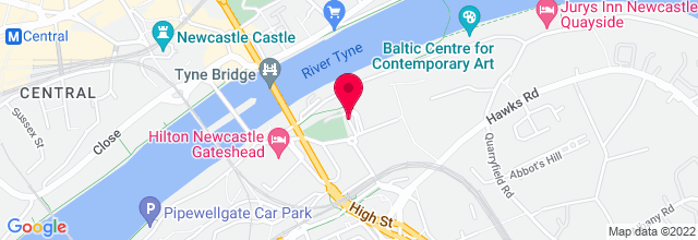 Map for The Sage Gateshead