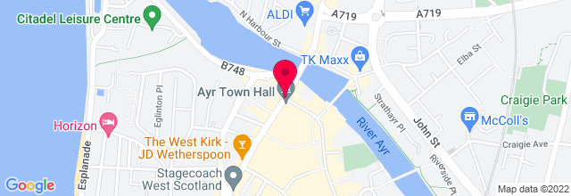 Map for Ayr Town Hall