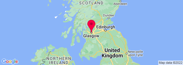 Map of Glasgow, UK