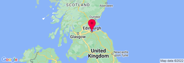 Map of Edinburgh, UK