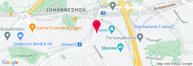 Map for Ericsson Globe Arena
