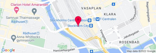 Map for Stockholm Waterfront Congress Centre