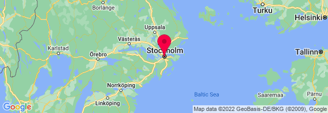 Map of Stockholm, Sweden